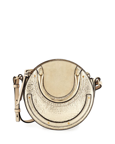 Chloe Pixie Mini Metallic Crossbody Bag