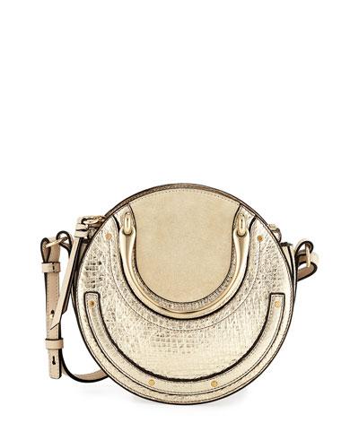 Pixie Mini Metallic Crossbody Bag