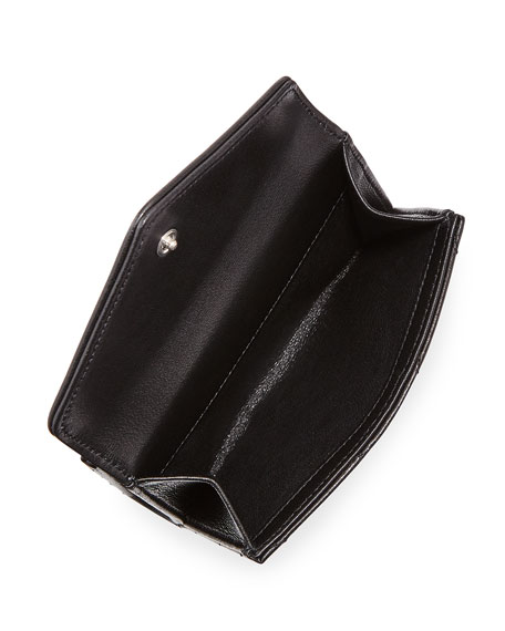 Loulou Small V-Flap Wallet