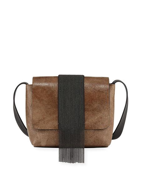 Mixed Metallic Mirrored Crossbody Bag