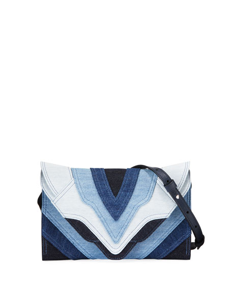 Elena Ghisellini Felina Mini Patchwork Jeans Crossbody Bag