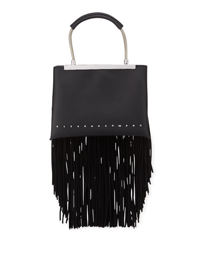 Dime Small Fringe Satchel Bag