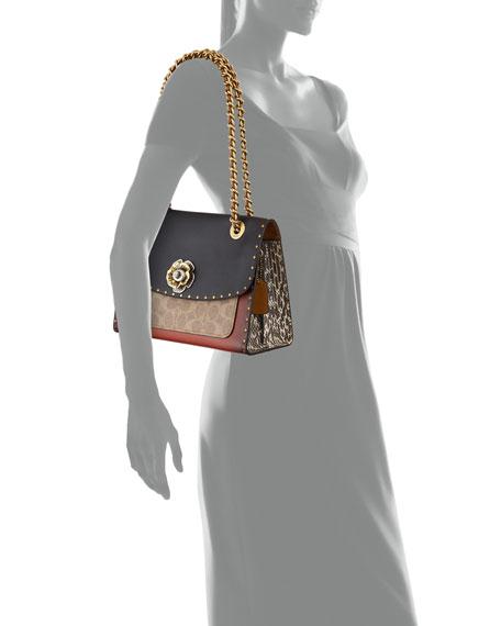 Parker Colorblock Canvas Shoulder Bag