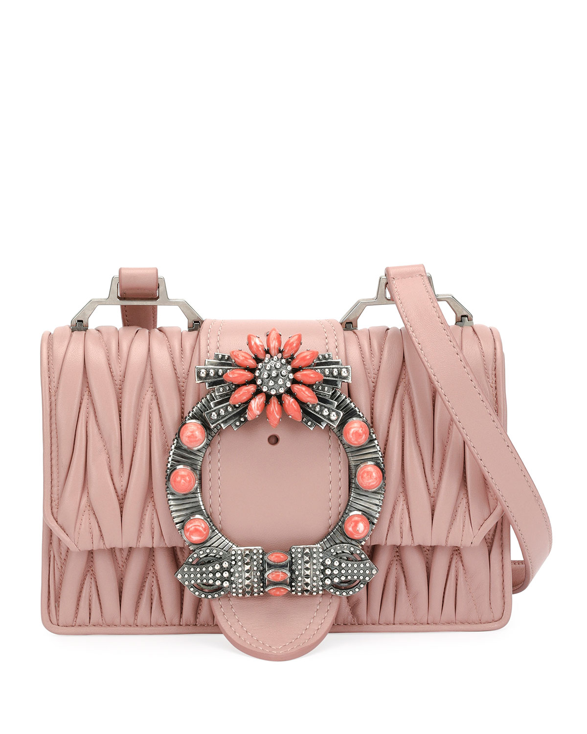 937c832a564 Miu Miu Miu Lady Matelassé Medium Shoulder Bag