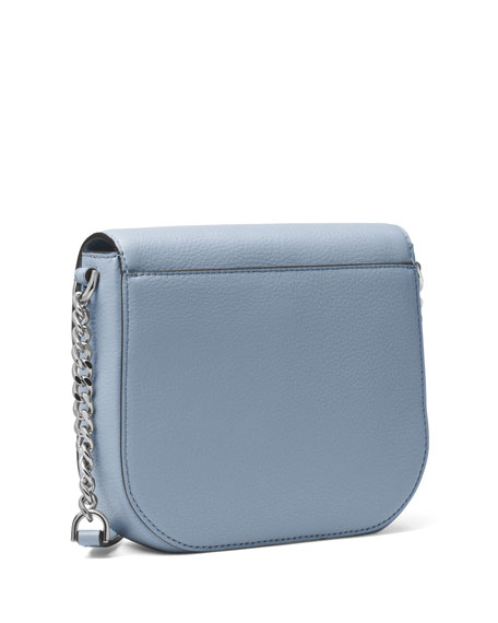 Half-Dome Leather Crossbody Bag - Silver Hardware
