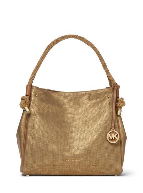 MICHAEL Michael Kors Isla Large Metallic Leather Tote Bag