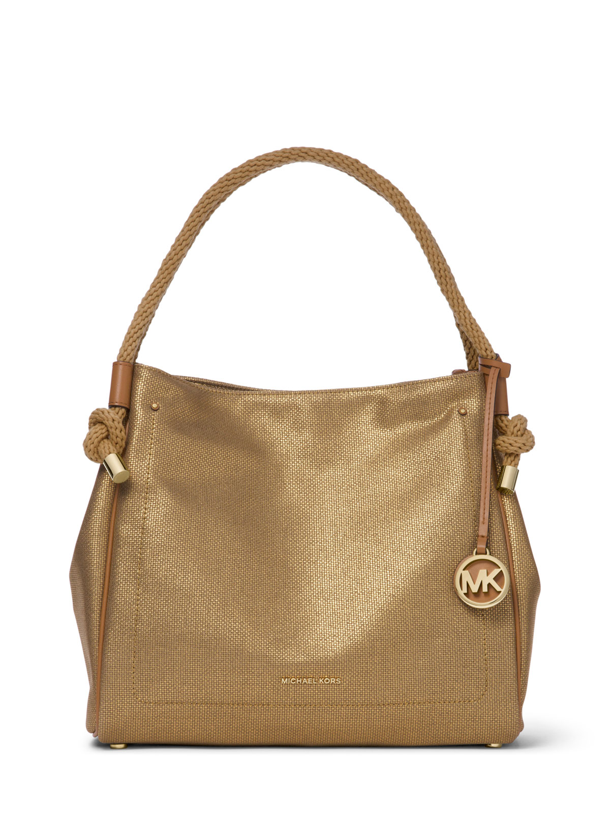 106305e3395d MICHAEL Michael Kors Isla Large Metallic Leather Tote Bag