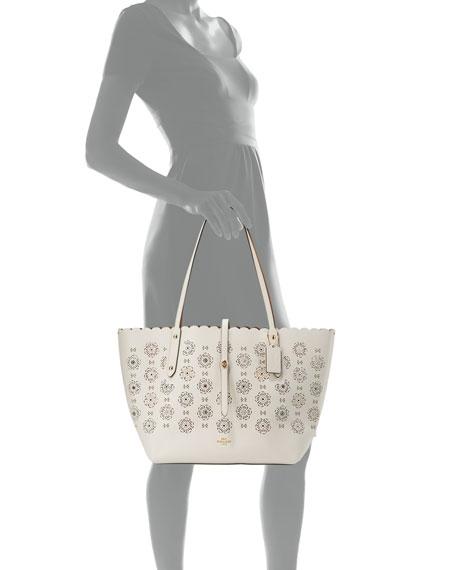 Market Tea Rose Cutout Tote Bag