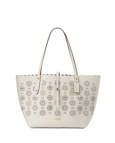 Coach Market Tea Rose Cutout Tote Bag