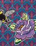 Multi Bee Patch Wristlet Bag