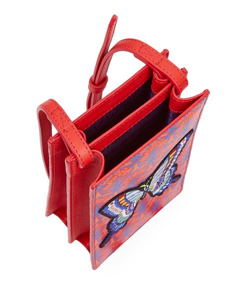 Liberty London Iphis Patch Canvas Phone Crossbody Bag - Golden Hardware