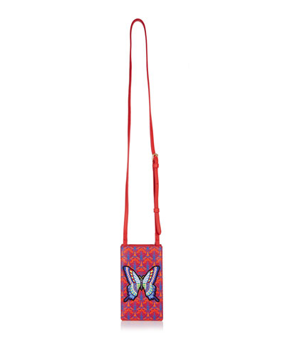 Iphis Patch Canvas Phone Crossbody Bag - Golden Hardware