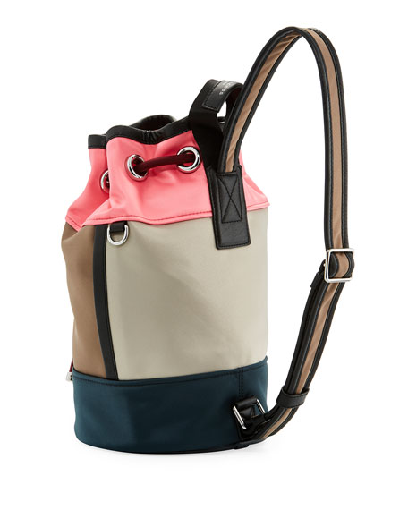Small Sport Sling Colorblock Backpack Bag