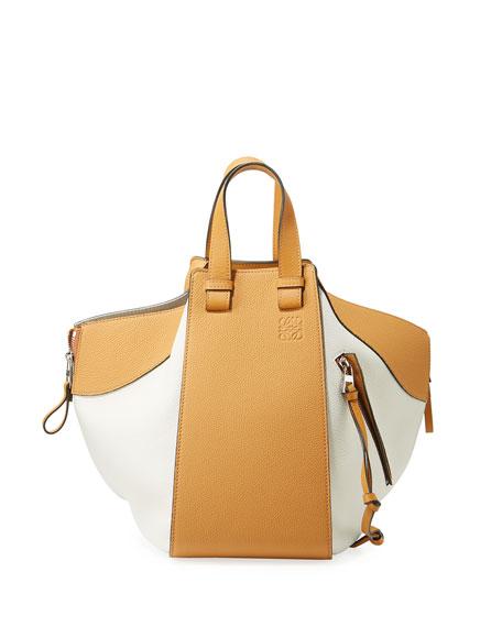 Hammock Medium Colorblock Leather Satchel Bag