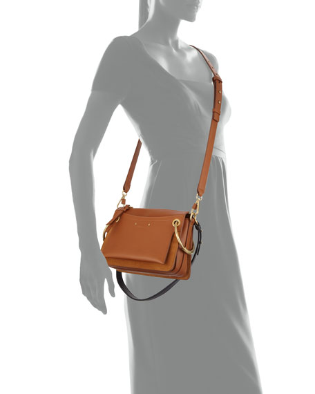 Roy Leather/Suede Shoulder Bag