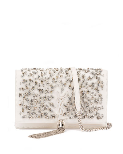 Kate Crystal-Beaded Chain Shoulder Bag