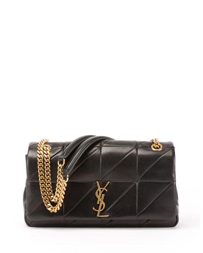 a2afad3e1e Saint Laurent Jamie Medium Diamond-Quilted Chain Shoulder Bag - Bronze  Hardware