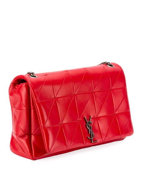 Image 2 of 3: Jamie Medium Diamond-Quilted Double-Chain Shoulder Bag