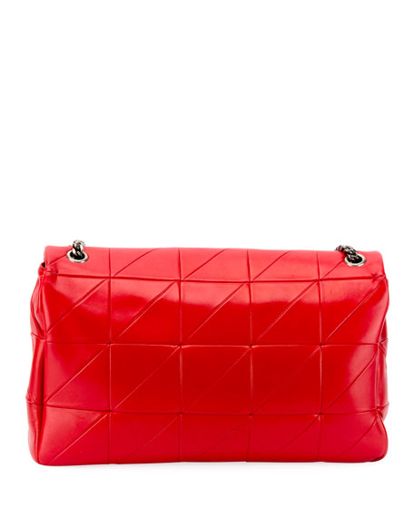 Image 3 of 3: Jamie Medium Diamond-Quilted Double-Chain Shoulder Bag