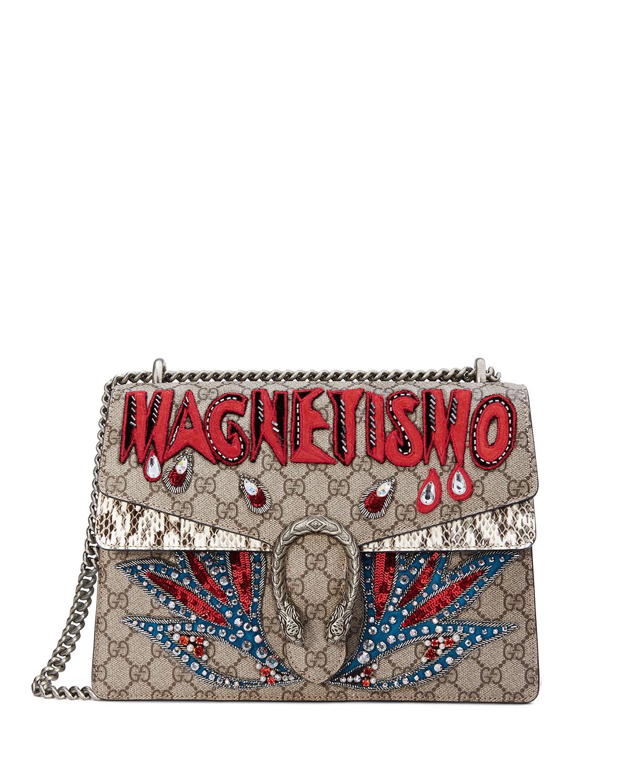 7002f354d0c3 Gucci Dionysus Magnetismo Medium GG Supreme Shoulder Bag | Neiman Marcus