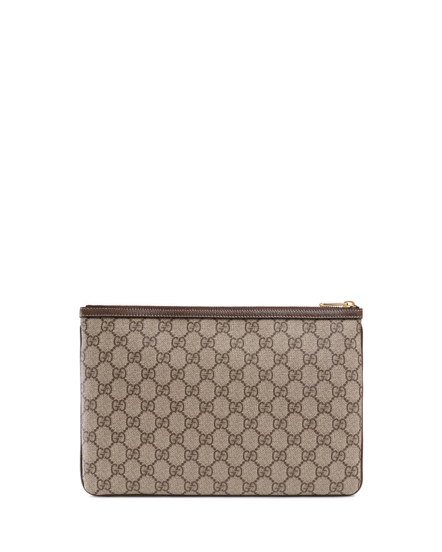 cb9f0c37e Gucci Ophidia Large GG Supreme Pouch Clutch Bag | Neiman Marcus