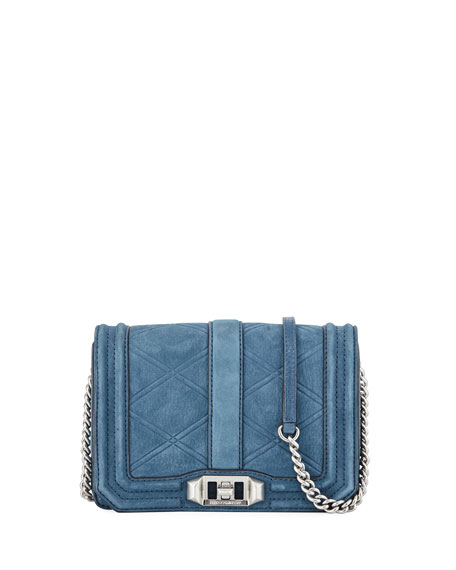 Rebecca Minkoff Love Small Quilted Nubuck Leather Crossbody