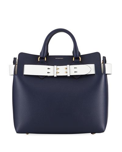 Marais Medium Belt Top Handle Bag, Navy