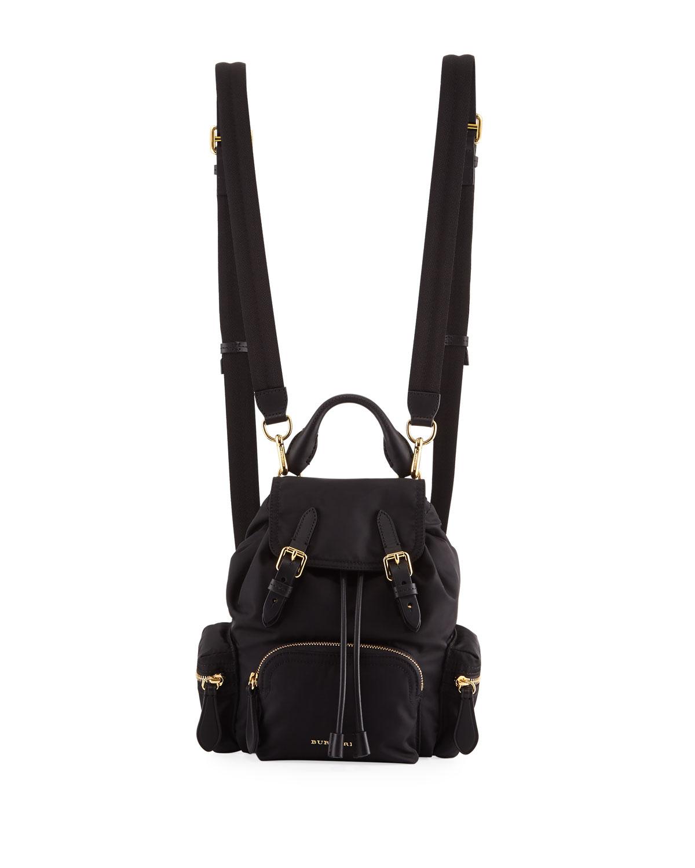 810da3d1b Burberry Prorsum Small Leather-Trim Nylon Rucksack Backpack | Neiman ...