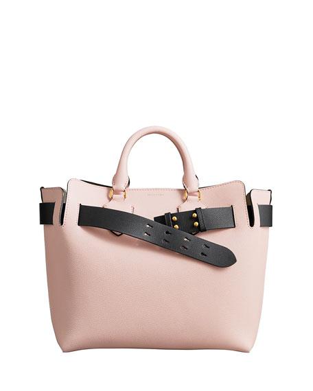 Burberry Marais Medium Belt Top Handle Bag, Light