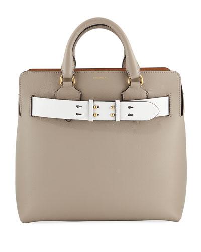 Marais Medium Belt Top Handle Bag, Gray