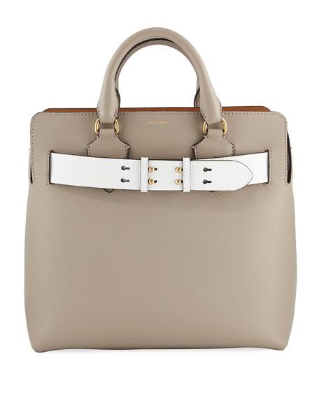 Burberry Marais Medium Belt Top Handle Bag, Gray