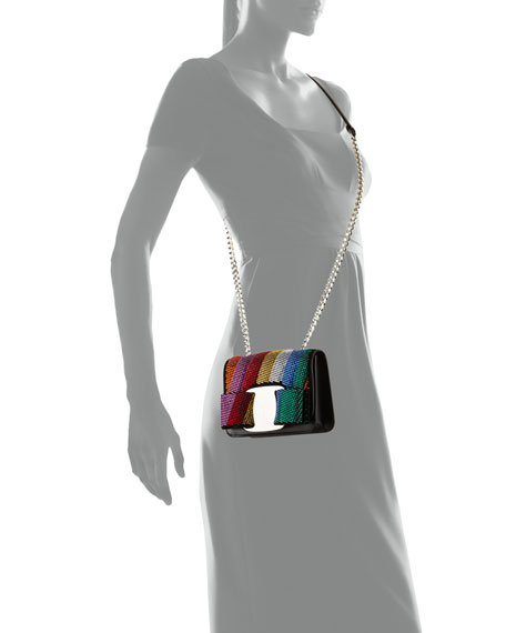 Vara Rainbow Crystal Shoulder Bag