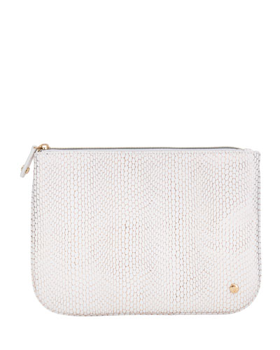 Havana White Large Flat Pouch