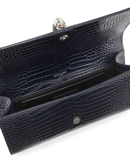 Kate Monogram YSL Tassel Faux-Crocodile Clutch Bag