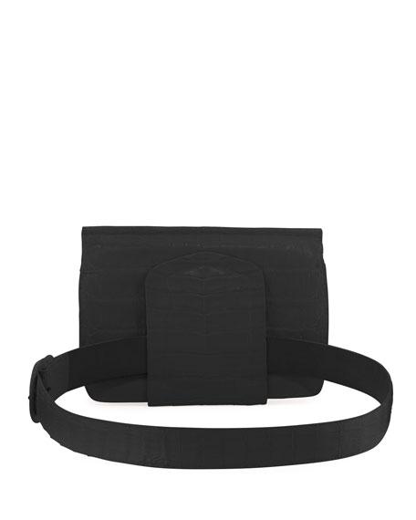 Crocodile Flap Belt Bag/Fanny Pack