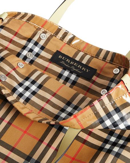 Burberry Coated Vintage Check Medium Shopper Tote Bag