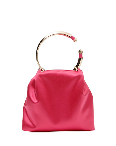 Bebop Loop Satin Clutch Bag