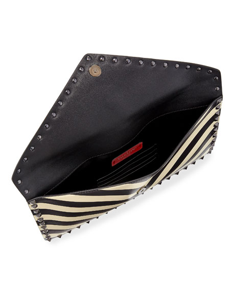 Rockstud V.Stripes Large Flat Clutch Bag