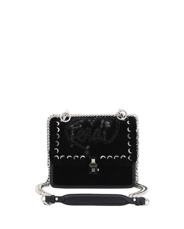 373d167d53 Fendi Kan I Small Velvet Shoulder Bag