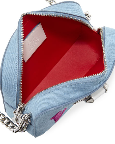 RubyLou Mini Love Denim Crossbody Bag