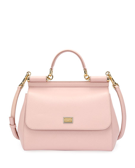 Dolce & Gabbana Sicily Medium Calf Leather Satchel