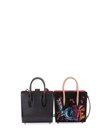 Paloma Small Love Embroidered Suede Tote Bag