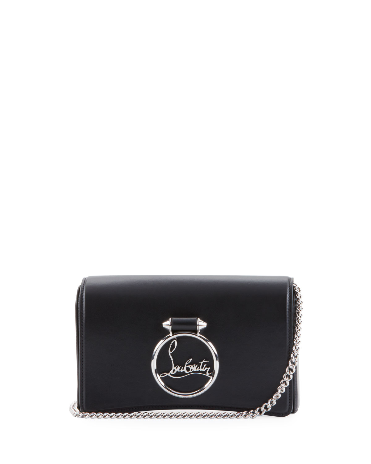 32695ca51d8 Ruby Lou Leather Logo-Ring Clutch Bag