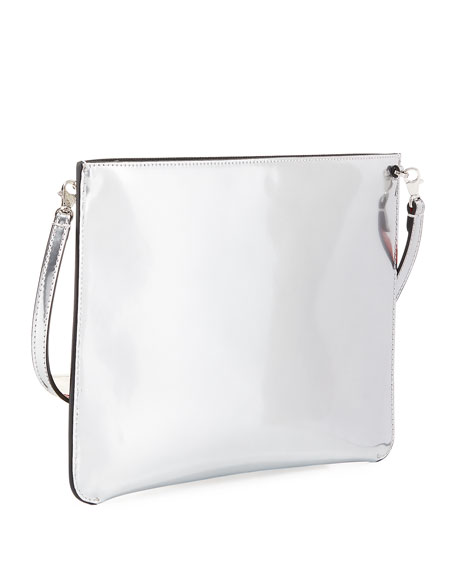 Loubiclutch Glitter Spikes Clutch Bag