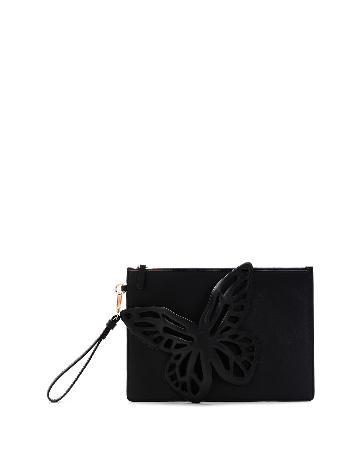 Sophia Webster Flossy Butterfly Leather Pochette Clutch