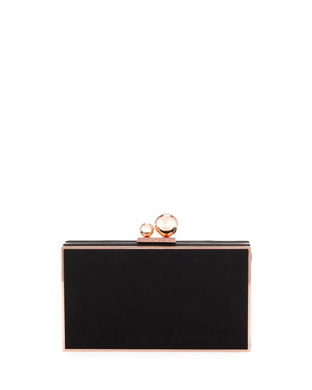 Sophia Webster Clara Satin Box Clutch Bag
