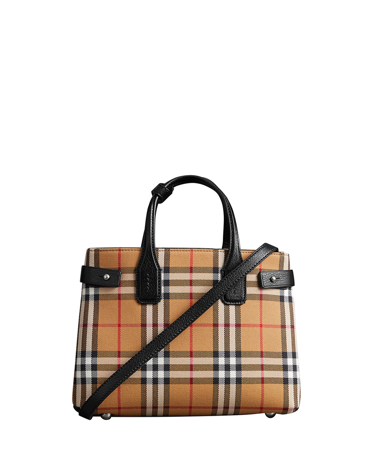 forefront of the times fashion design entire collection Banner Small Vintage Check Tote Bag