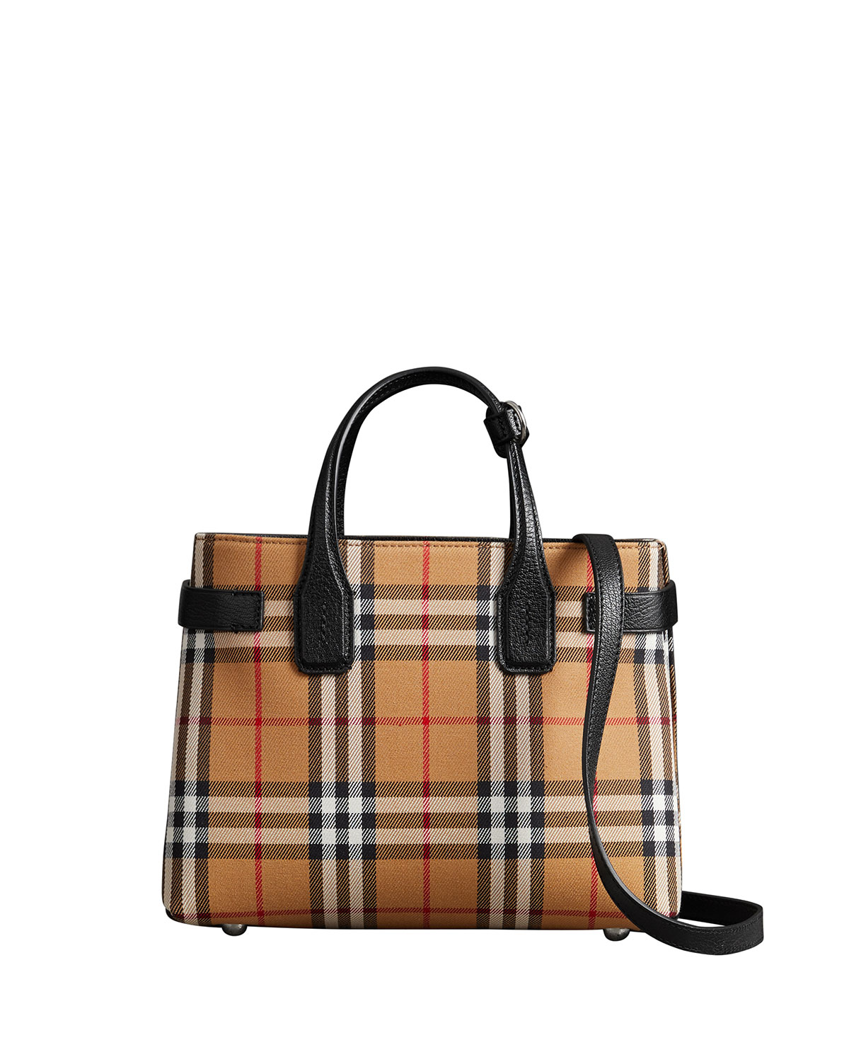 dca5392ecd Burberry Banner Small Vintage Check Tote Bag | Neiman Marcus