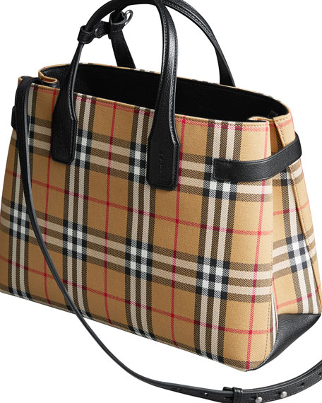 Burberry Vintage Check Medium Banner Tote Bag