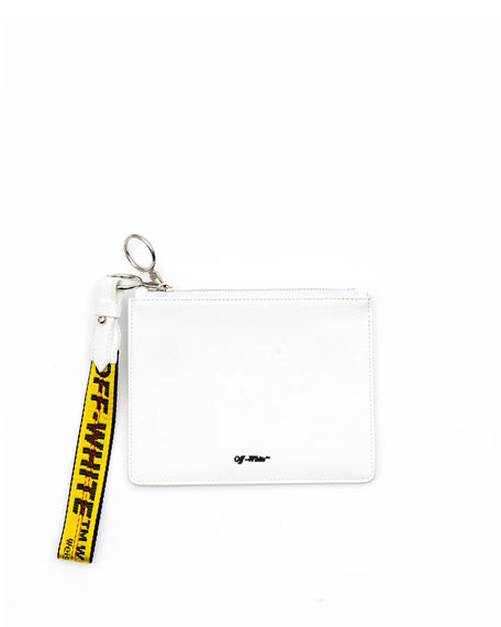 Off-White Diagonal Double Flat Clutch Bag